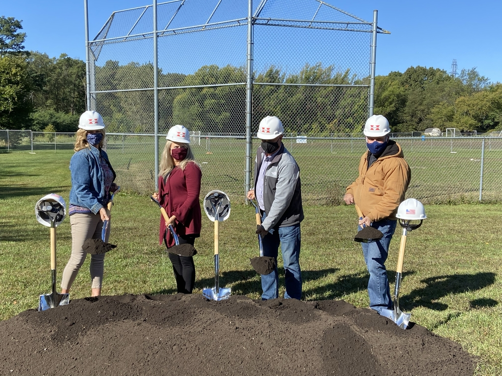 School Board Members break ground.