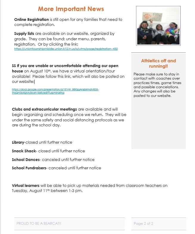 August Newsletter, page 2